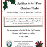 Holidays in the Village Christmas Market flyer 2015