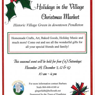 Ninth Annual Holidays in the Village Christmas Market