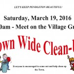 Town wide cleanup flyer March 2016