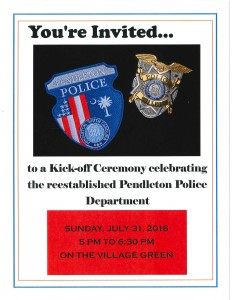 Police - invtie to kick-off ceremony flyer