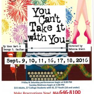 Clemson Little Theatre at The Pendleton Playhouse Presents…