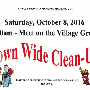 Town Wide Clean-Up – Saturday, October 8, 2016