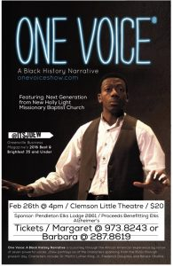 One Voice flyer