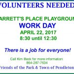 Barretts Place Maintenance Day flyer