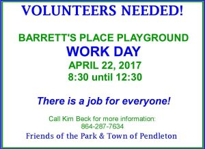 Barretts Place Maintenance Day flyer