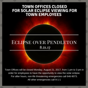 Town Offices Closed for Solar Eclipse Viewing for Town Employees