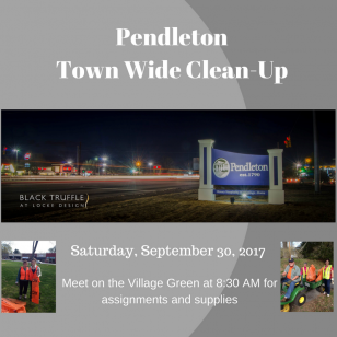 Town Wide Clean-Up. Help us get ready for Fall and Scarecrow Season