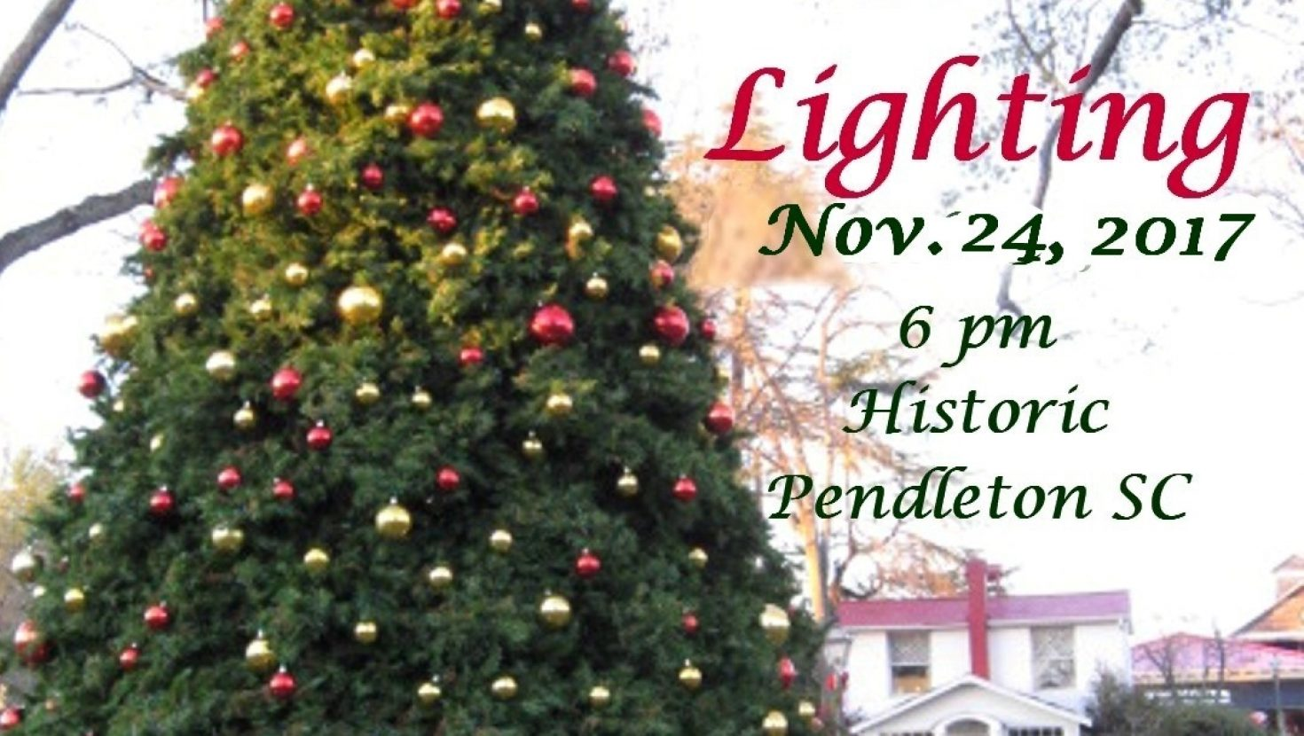 Join us for our Annual Tree Lighting