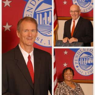 Mayor Crenshaw, Councilman Kalley & Councilwoman Jackson Continue Serving Pendleton!