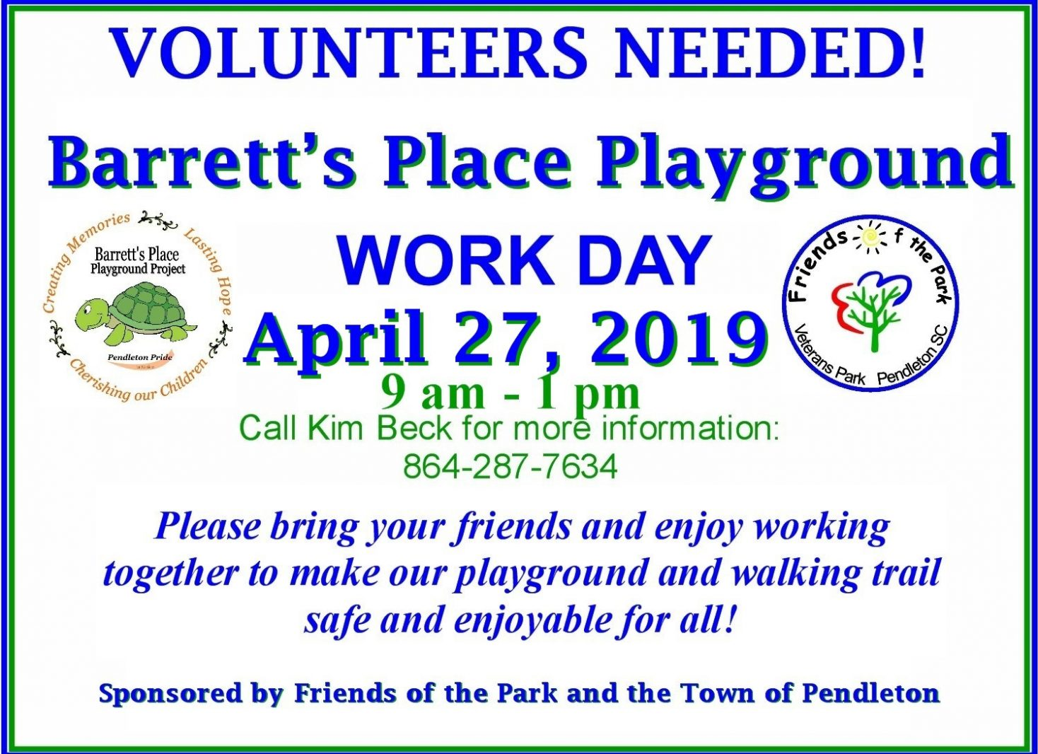 Volunteer's Needed: Barrett's Place Playground Maintenance Day