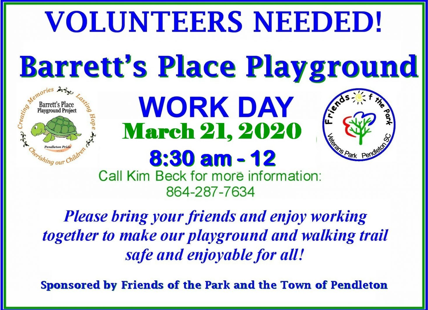CANCELLED – Volunteers Needed! Barrett's Place Playground Work Day