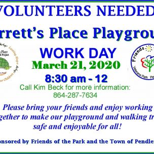 Volunteers Needed! Barrett's Place Playground Work Day