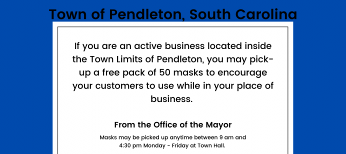 Masks Provided to Town Businesses