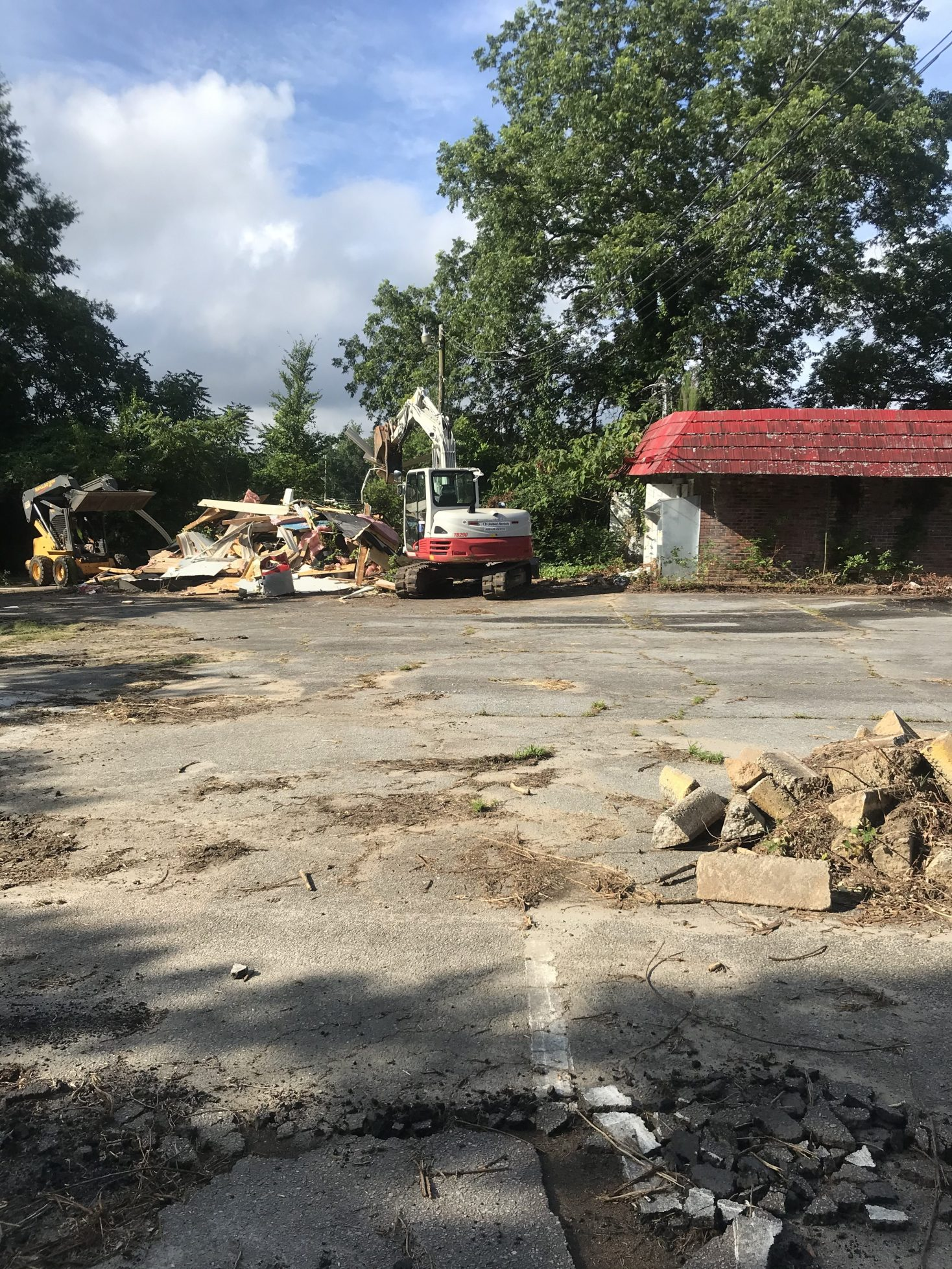 Demolition takes place at 120 Depot Street