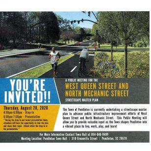 Public Meeting on W. Queen Street & N. Mechanic Street