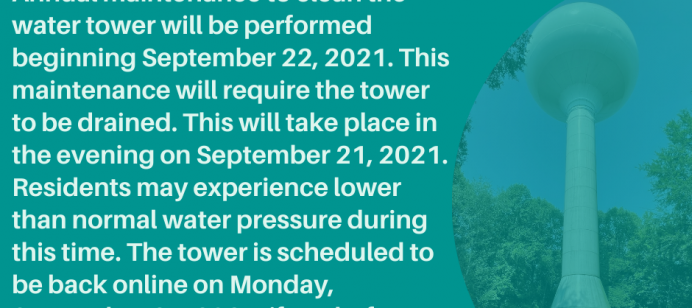 Water Tower Cleaning Notice