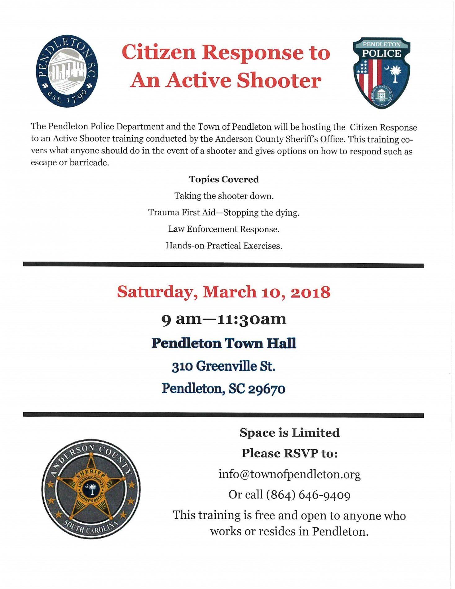 Citizen Response to An Active Shooter Training
