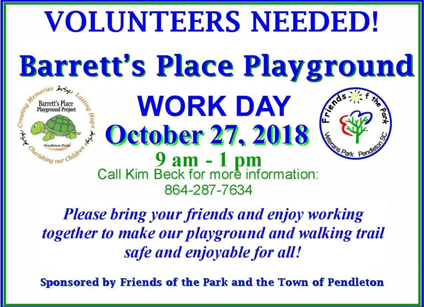 Barrett's Place Playground Fall Maintenance Day